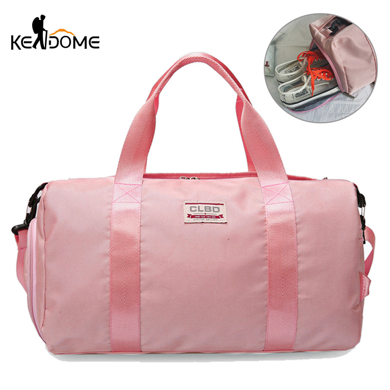 365f524c5090 Pink Fitness Gym Bag Yoga Training Shoulder Crossbody Handbag Nylon Sport  Bag for Women Men Travel