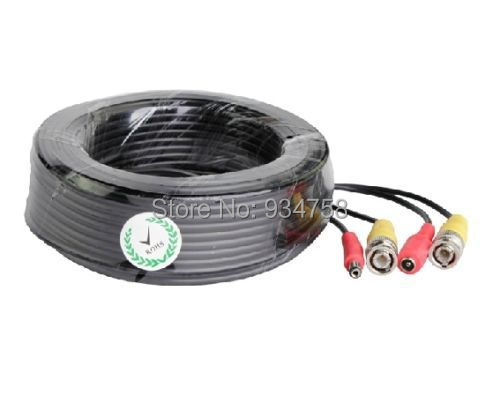 Home Security BNC 20M 65FT DC Power Cable For CCTV Security Camera DVR dc bnc шнур 10м