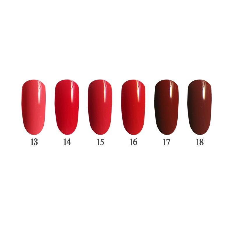 Фото 6PCS 12ml UV Nail Gel Kit Long Lasting Soak off Nail Art Manicure LED Nail Gel Polish Makeup Using Nail Lamp Red Color
