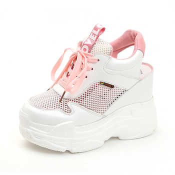 Rimocy breathable air mesh platform sneakers women 2019 summer fashion high heels wedges sandals woman casual shoes sandalias - DISCOUNT ITEM  35 OFF Shoes