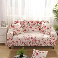 WLIARLEO Plaid Sofa Cover 100% Polyester Sofa Slipcover Full Wrap Elastic Armrest case for Corner sofa towel Stretch Seat Covers