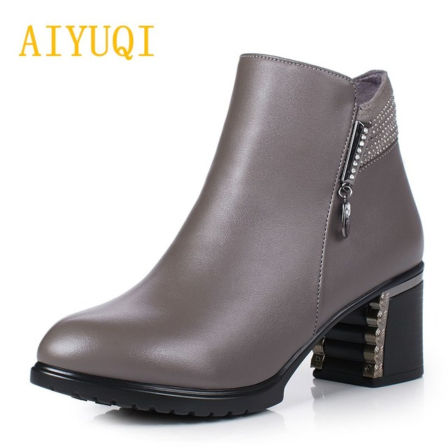 0e8ab5080fbc2 AIYUQI 2018 new genuine leather women s winter boots