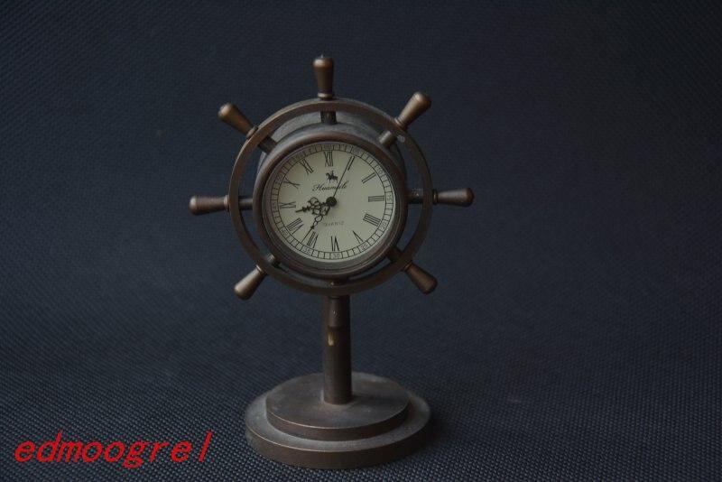 Rare ancienne dynastie Qing horloge royale en laiton \ montre de poche mécanique, peut travailler, avec marque, navire de mer, livraison gratuite