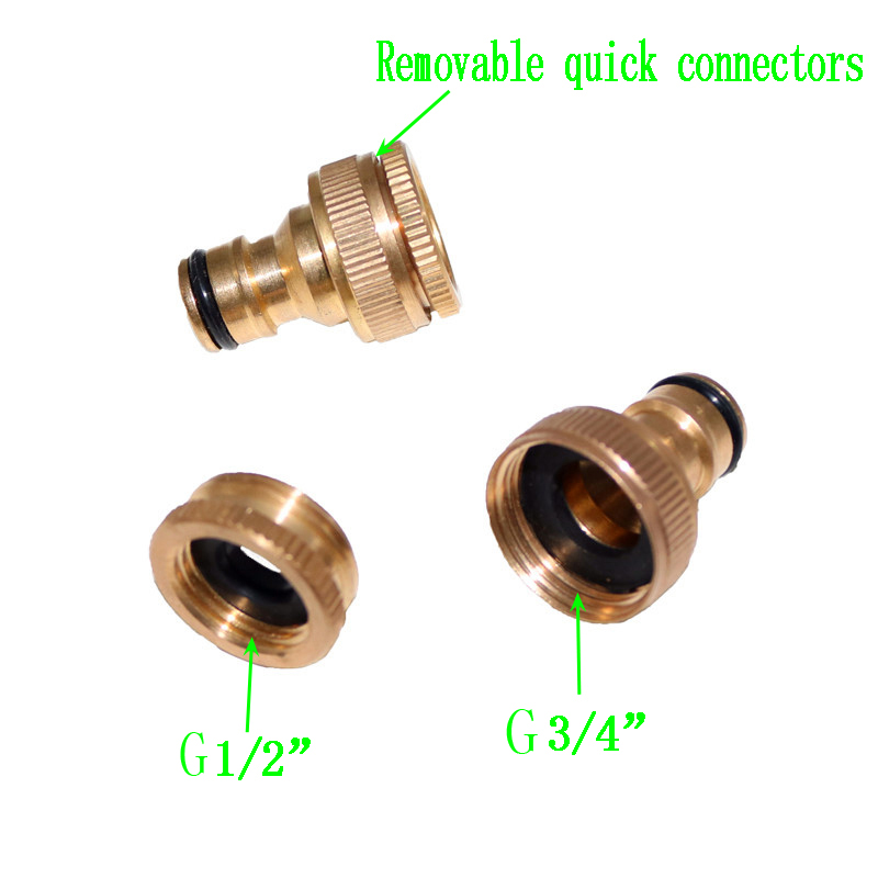 1 Set Of Copper Faucet Washing Machine Water Gun Fittings Standard ...