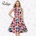 RUIYIGE 2017 бизнес случайный формальные midi рукавов день ретро довольно 50 s 70 s мода turn down воротник женщин летом dress C881