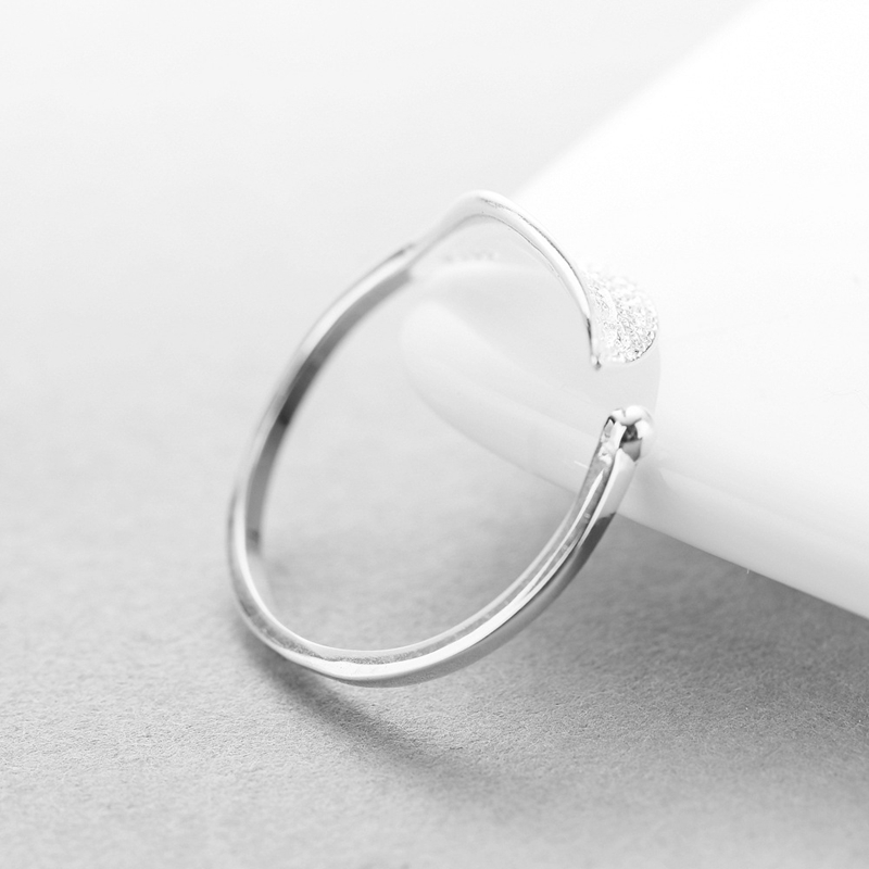 Image 5 - New 925 sterling silver fashion simple leaf ring female small fresh leaf rings adjustable forefinger silver 925 jewelry-in Rings from Jewelry & Accessories