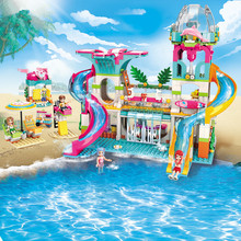 Enlighten 828Pcs Heartlake Girl Friends Holiday Water Park Building Blocks City Toys For Children Bricks