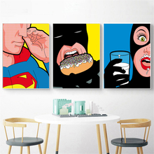 Canvas Art Print Secret Lives of Superheroes Poster Pop Kids Room Decor Funny Batman Spiderman Superman Cuadros Unframed