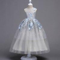 5-18 Yıl Genç Kızlar Düğün Tam Elbiseler Mariee Vestidos Artı Boyutu aile bak Işlemeli Tül Balo Prenses Parti elbise