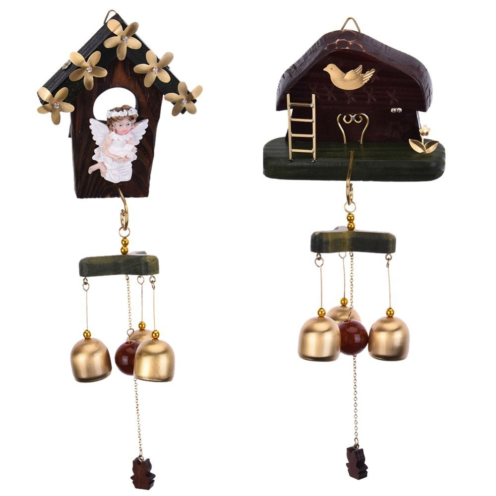 2017 Birthday Gifts Cabin Multi-Bell Wind Tube Chimes Wall Ornaments Aeolian Bells Dream Catcher Home Decorations