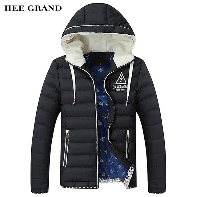 Men Winter Jacket Big Size L-4XL New Arrival Casual Slim Cotton With Hooded Parkas Casaco Masculino Stand Collar MWM1319