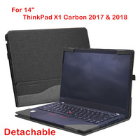 Detachable Cover For Lenovo ThinkPad X1 Carbon 2017 2018 14 Inch Laptop Sleeve Case Notebook Bag PU Leather Protective Skin Gift
