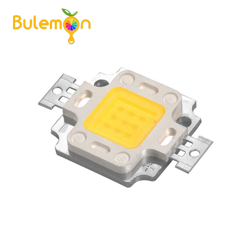 5pcs/lot Double Gold Line High Brightness Warm White Light Warm White 10W High Power LED Integrated Light Source