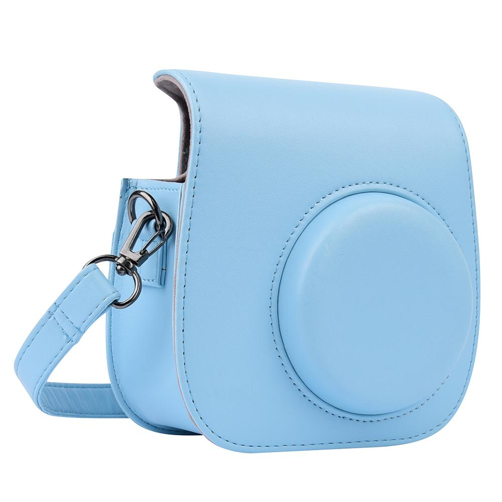 Hot 2018 Retro Camera PU Leather Bag Protect Case Pouch With Strap For Fuji Fujifilm Instax Mini 8 length 55cm high quality