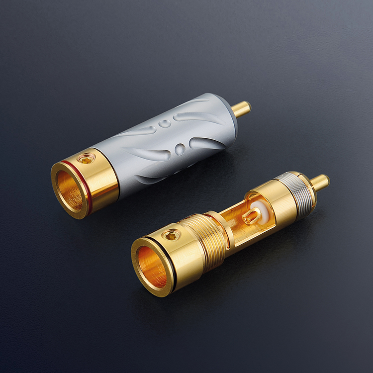4PCS VR 109G viborg audio Gold Plated Hifi RCA cable Extension Plug Locking Cable Connectors