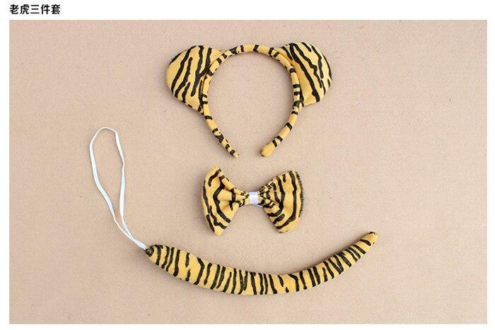 Детское взрослое животное ухо оголовье хвост кошка обезьяна Минни Маус Кролик Леопард лягушка лиса волк медведь леопард тигр вечерние головные уборы