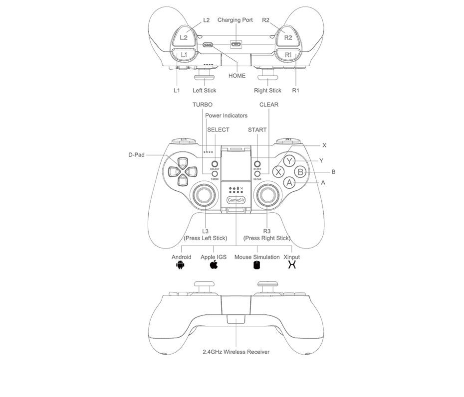 Gamesir T1dt1s Remote Controller For Dji Tello Games Joystick