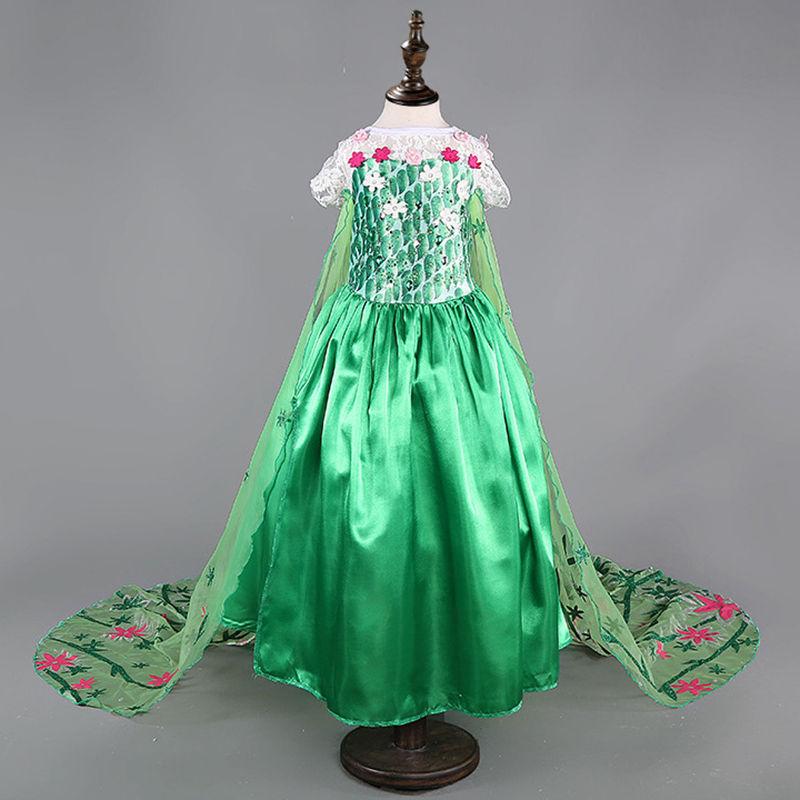 Момиче парти рокля Елза Анна дантела - Детско облекло - Снимка 5