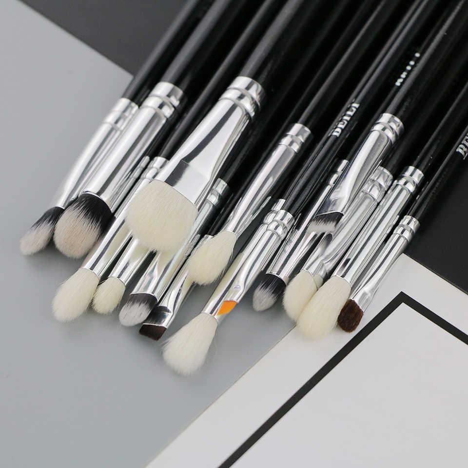 Beili Zwart Luxe Professionele 22 Pcs Synthetisch Haar Poeder Foundation Geitenhaar Oogschaduw Blending Make-Up Borstel Set