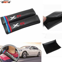 10pair/set Car Seat Belts Covers Carbon fiber Auto Padding Seat Belt Car Covers for bmw X1 X3 X5 X6 car styling
