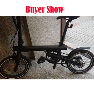 Image 2 - Nouveau garde boue et béquille de vélo dorigine 3rd génération pour Xiaomi Qicycle EF1 Support de garde boue de pneu de vélo électrique