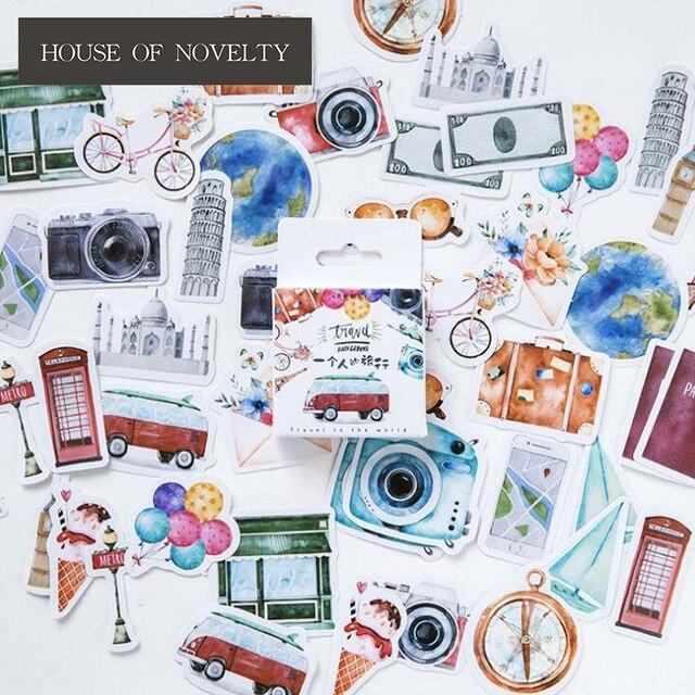 Een Persoon Reizen Decoratieve Stickers Stickers DIY Decoratie Dagboek Briefpapier Stickers Kinderen Gift