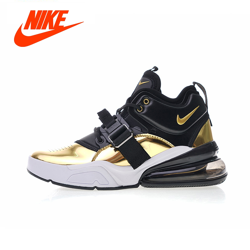 brand new c0658 371f9 ... best price auténtico nike air corrientes force 270 qs estándar de oro  zapatos corrientes air 72a9b2