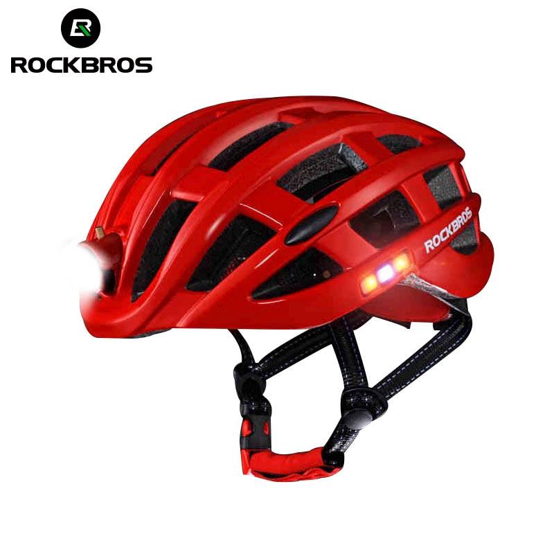 ROCKBROS Light Cycling Helmet Bike Ultralight helmet Intergrally-molded Mountain Road Bicycle MTB Helmet Safe Men Women 57-62cm rockbros tail light bike helmet men women bicycle helmet night cycling mtb road mountain bike usb rechargeable helmets k6107