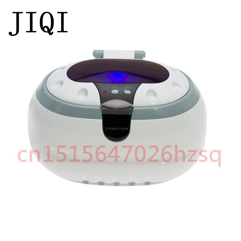 JIQI Household ultrasonic cleaner Ultrasonic bath Cleaning machine UV light Stainless steel liner wash glasses jewelry watch