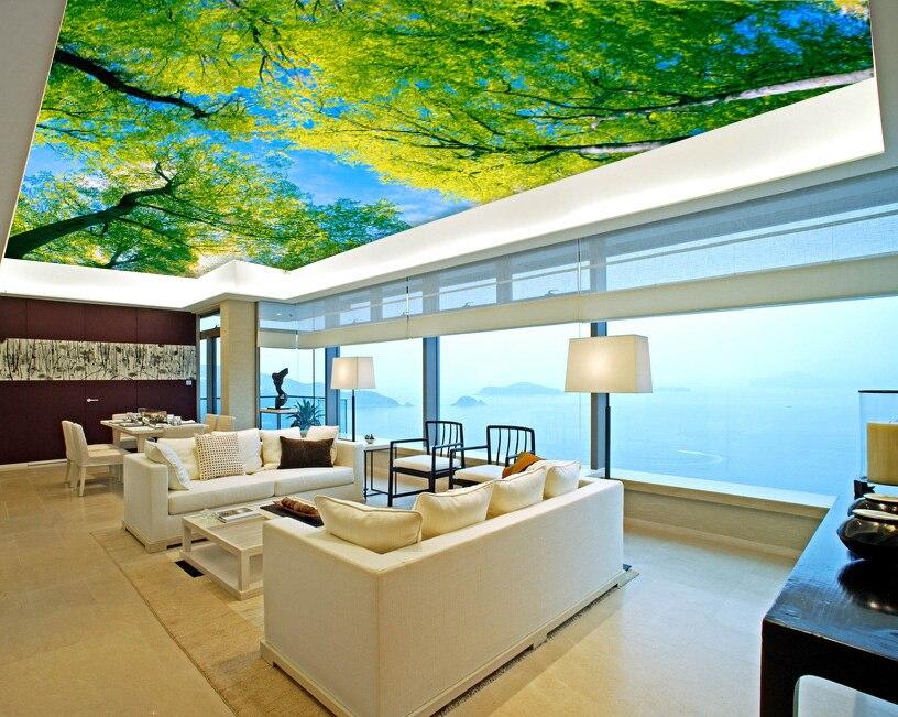 Large blue sky 3d wallpaper ceiling mural wallpaper ...