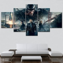High Quality Canvas Print One Set 5 Piece Movie Venom Deadly Guardian Painting For Modern Living Room Wall Decorative Artwork