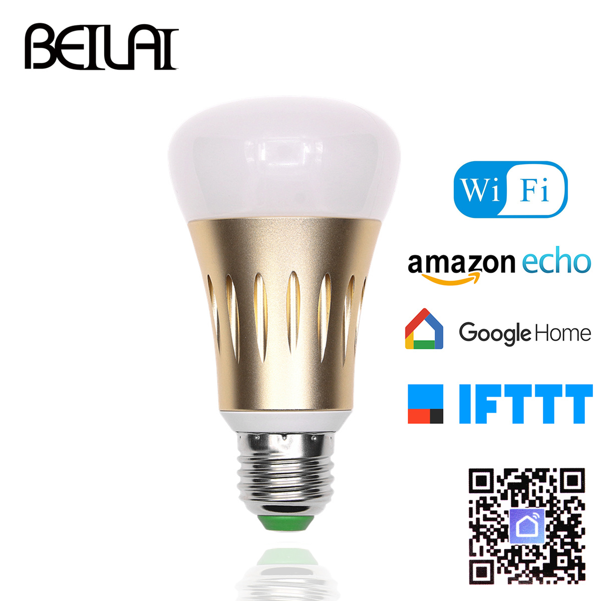 LED Lamp E27 Dimmable Smart LED Bulbs WIFI Control Light