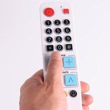 リモートテレビdvd stb dvb学ぶTV BOX、ビッグボタンコントローラとバックライト、21ビッグボタン高齢者のための簡単な使用