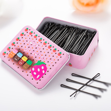 2017 Hot Sale 48 PCS 3 Style 6 Size With Metal Box Hairpins Accessories Bob Pins Round Head Professional Hair Grips Barrettes