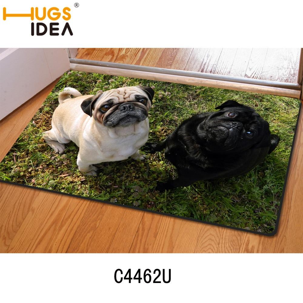 Hugsidea labrador pugs animal print thin carpets for livig - Alfombras animal print ...