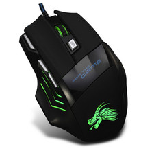 SHENSEE 5500 DPI 7 Bouton LED Optique USB Filaire Gaming Mouse Pour Pro Gamer