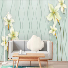 Factory direct modern minimalist beautiful flower TV, bedroom wall