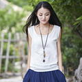 9 Candy Color Solid Linen Women Tank Top Summer Casual Sleeveless Camisole Vest Kawaii Slim Cute Tanks Tops Mori girl Camis B076