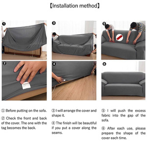 Image 5 - Universal 1/2/3/4 seater universal sofa cover stretch seater covers Couch cover Loveseat sofa Funiture home Christmas decoration