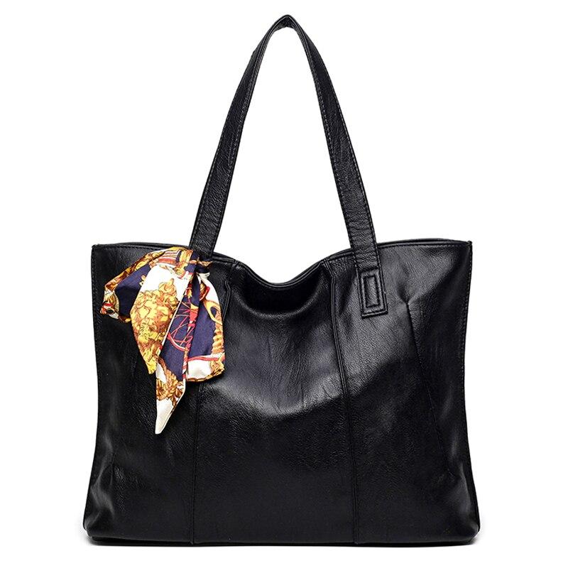 Scarf Women Bag Big Luxury Handbags Women Bags Designer Brand Famous Shoulder Bag Women Leather Handbags