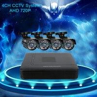 Hiseeu 4CH DVR For CCTV Kit 1200TVL IR 720P Bullet Outdoor AHD Camera Security System VGA