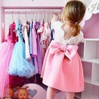 Girl Dress Summer Toddler Infant Toddler Baby Kids Girl Ruffles Bow Dress Lace Princess Clothings 2018