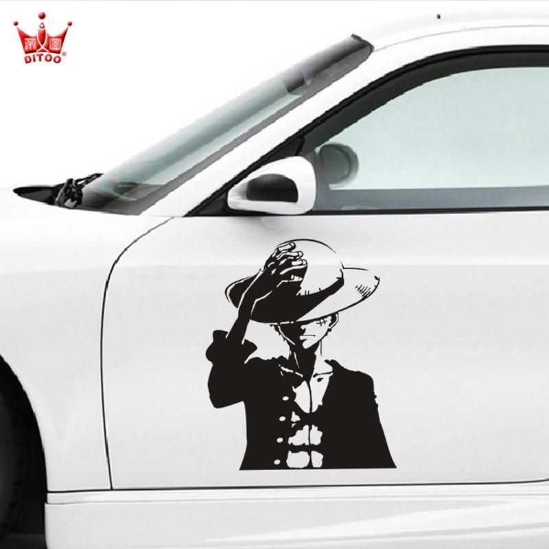 Cartoon One Piece Design Car Side Door Decor Stickers And Decals - Cool car decals designcar foil hood stickerscustom car body side sticker design buy