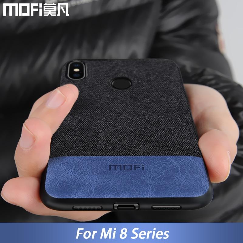 For Xiaomi mi8 case cover mi 8 Explorer Version back cover silicone fabric shockproof case coque capas MOFi mi8 SE case