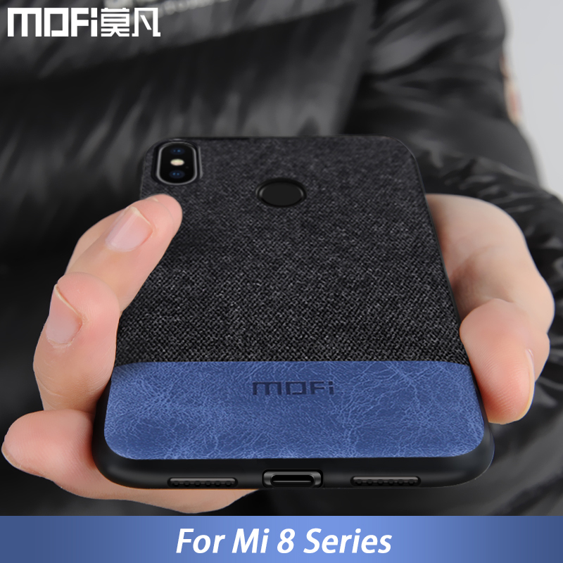 Para Xiaomi mi 8 caso mi 8 Explorer versión cubierta de tela de silicona a prueba de golpes caso coque capas MOFi mi 8 caso iPhone