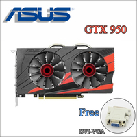 Used ASUS PC Graphics Card Original GTX 950 2GB 128Bit GDDR5 Video Cards For NVIDIA VGA