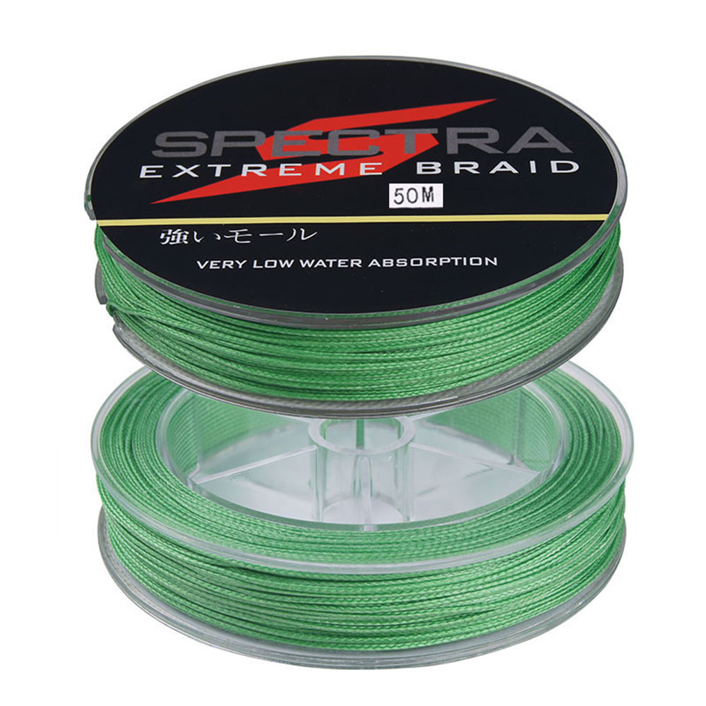 50m 250lb 300lb super strong brand fluorescent green 100 for 50 lb braided fishing line