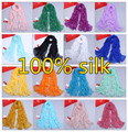 2015 spring and autumn women's 100% Silk scarf long silk large pashmina cape solid candy color scarf summer sunscreen cape
