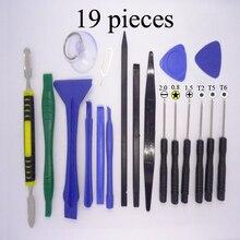 Фотография Hot selling 19 in 1 Mobile Phone Repairing Tool Kit Spudger Pry Opening Tool LCD Repair Tool with 0.8MM\1.5MM\T2\T6 screwdrivers