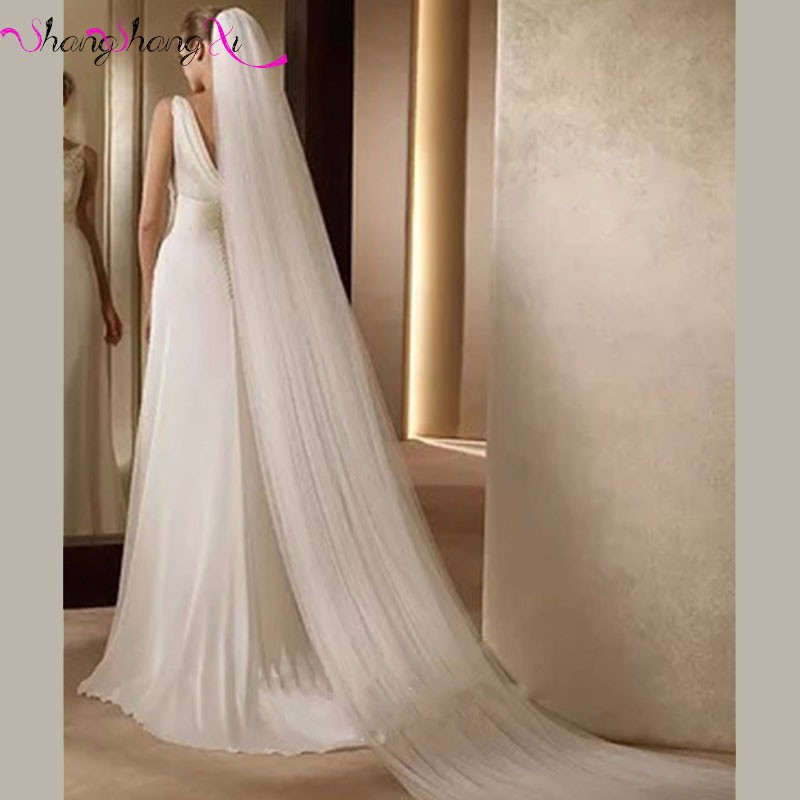 7.88-Elegant-Wedding-Accessories-3-Meters-2-Layer-Wedding-Veil-White-Ivory-Simple-Bridal-Veil-With-Comb-Wedding-Veil-Hot-Sale